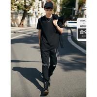 PEACEBIRD MEN 太平鸟风尚男装 BWDAB2132 男士速干运动服纯色短袖T恤