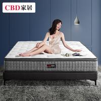 CBD家居 国民一号 弹簧软硬双用乳胶床垫 1.8*2m