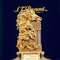 S.T.Dupont 都彭 法国都彭 高级珍藏雕刻限量88台马年生肖 打火机 铜底镀金