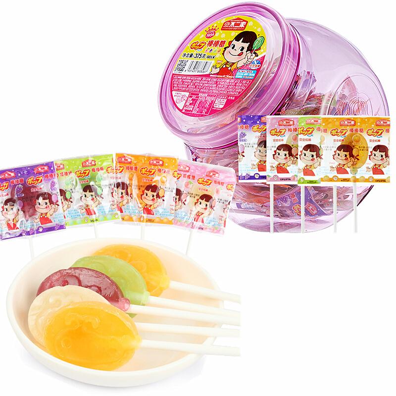FUJIYA 不二家 果味棒棒糖组合装 混合口味 375g(蜜瓜味+香橙味+葡萄味+蜜桃味)
