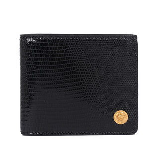 VERSACE 范思哲 奢侈品 男士黑色皮革美杜莎装饰钱包钱夹礼盒 DPU2463 DLIZ3 K41OT