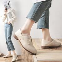 FIRS 杉杉 四季鞋新品简约英伦风系带女鞋单鞋皮鞋女德比鞋通勤鞋休闲运动鞋
