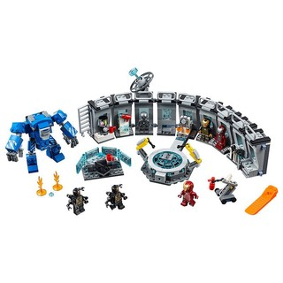 LEGO 乐高 积木玩具超级英雄 钢铁侠机甲陈列室76125