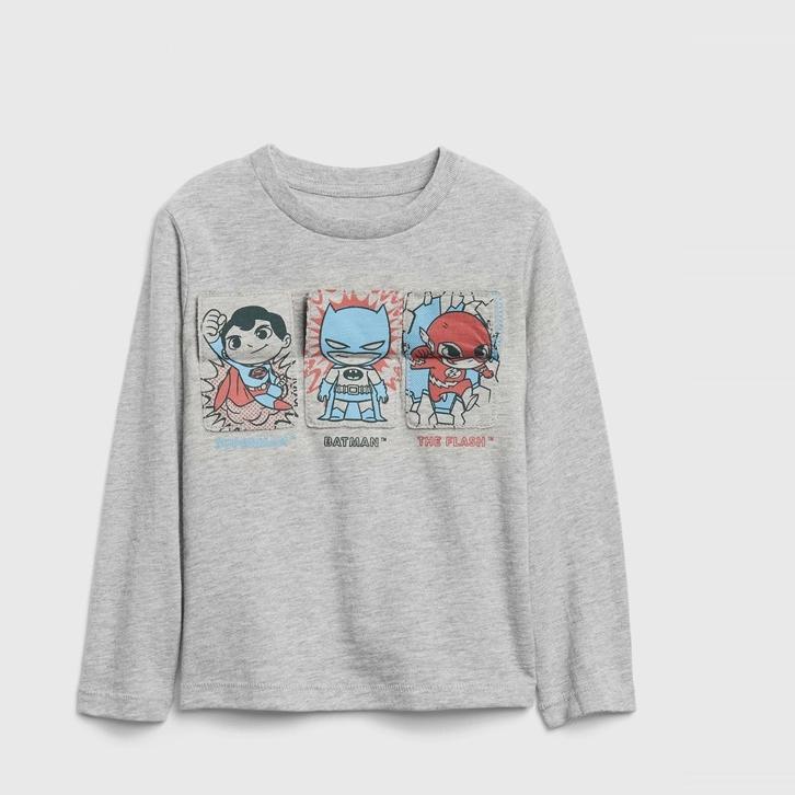 Gap 盖璞 男幼童趣味纯棉长袖T恤