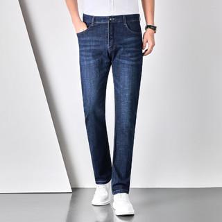 Fapai 法派 夏季新款休闲时尚商务百搭中腰直筒牛仔长裤男式牛仔裤