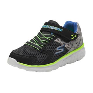 SKECHERS 斯凯奇 GO RUN 400 PROXO 男童休闲运动鞋 97680L 黑色/炭灰色 35