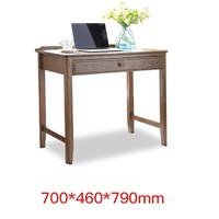 治木工坊 B-SZ03A 美式黑胡桃色电脑桌 单抽款