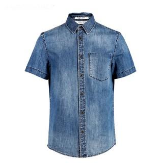 JACK&JONES 杰克琼斯 219204517E37 男士牛仔衬衫