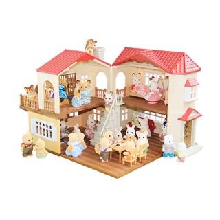 Sylvanian Families 森贝儿家族 208521 灯光大房套装