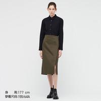 UNIQLO 优衣库 438116 女装 +J 棉麻裹裙