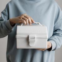 TENMA 天马 Tenma天马株式会社手提工具箱塑料文具杂物零件整理多功能收纳盒