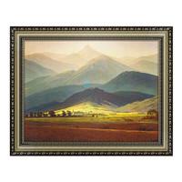 雅昌 《Riesengebirge的景色》大卫巨人山 背景墙装饰画 56*73cm 油画布
