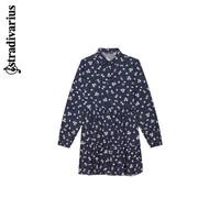 stradivarius 斯特拉迪瓦里斯 Stradivarius深蓝色小雏菊印花衬衫连衣裙女夏季新款02370613011