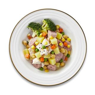 清净园 鹰嘴豆肉肠鸡胸肉轻食温色拉260g (新鲜蔬菜 即食沙拉 都市轻食 微波炉)