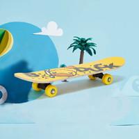 B.Duck 小黄鸭初学者双翘儿童中童四轮滑板玩具娱乐刷街17寸