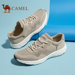 CAMEL 骆驼 休闲鞋男士透气舒适网面户外运动潮男老爹鞋 A112353330 沙色 41