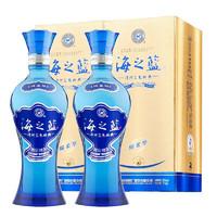 PLUS会员:YANGHE 洋河 海之蓝 42度白酒 375ml*2瓶