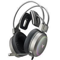 RAPOO 雷柏 VH610 耳罩式头戴式有线耳机 流光银