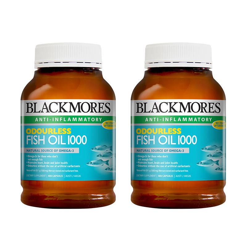 BLACKMORES 澳佳宝 无腥味深海鱼油 400粒*2瓶