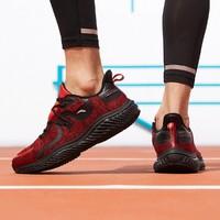 安踏 男跑步鞋时尚潮男舒适百搭网红款运动休闲鞋 大红/黑7  40