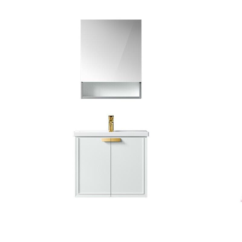 HEGII 恒洁 臻生活系列 BC6075-060 实木浴室柜组合 天青蓝+漫航灰 60cm