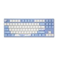 VARMILO 阿米洛 MA87 海韵 87键 有线静电容键盘 蓝白 阿米洛静电容V2玫瑰红轴 单光