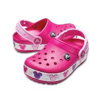 crocs 卡骆驰 卡洛班系列 204994-6X0 儿童闪灯款拖鞋 糖果粉 24(140mm)