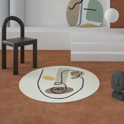 青山美宿 土耳其艺术家合作系列 床边地毯 pure face 100*100cm