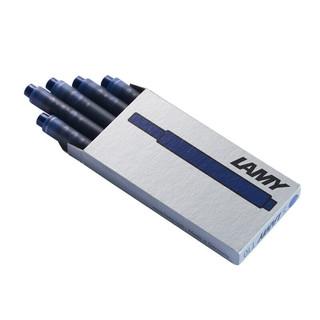 LAMY 凌美 德国进口 凌美(LAMY)钢笔墨囊笔芯墨水 T10一次性墨水芯 1盒5支 蓝黑色 可适配墨胆系列通用