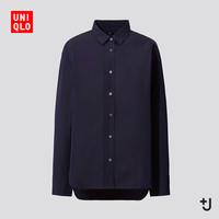 UNIQLO 优衣库 436191  女装 +J SUPIMA COTTON宽松廓形衬衫