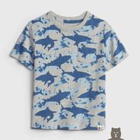 Gap 盖璞 布莱纳系列 纯棉童趣印花圆领T恤