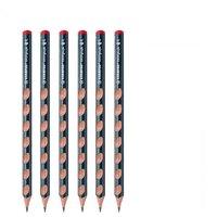 STABILO 思笔乐 322 三角杆铅笔 HB 蓝色 6支装