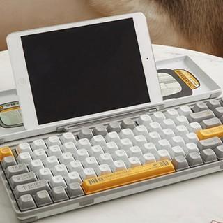LOFREE 洛斐 OE901 84键 蓝牙 双模无线机械键盘 灰白色 佳达隆G轴茶轴 无光