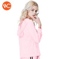 VVC2021新款夏季防晒衣女外套新款长袖防晒服运动户外薄防晒衫 成人女士-粉红色 均码