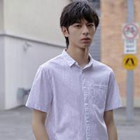 Semir 森马 13-039041281 男款条纹短袖衬衫