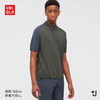 UNIQLO 优衣库 440159 男装 +J 真丝棉混纺POLO衫