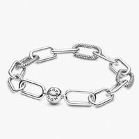 PANDORA 潘多拉 598373-2 蛇形链节交织手链