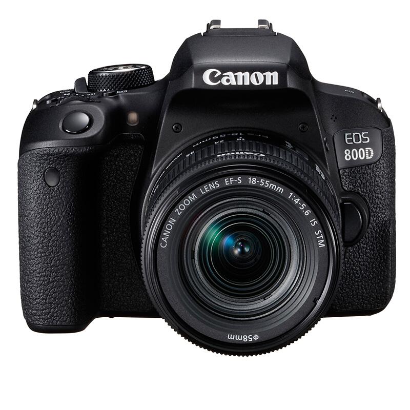 Canon 佳能 EOS 800D APS-C画幅 数码单反相机 黑色 EF-S 18-55mm F4.0 IS STM 标准变焦镜头 单镜头套机