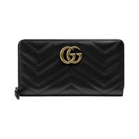 GUCCI 古驰 GG Marmont系列 女士长款钱包 443123 DTD1P 1000 黑色