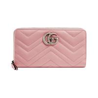 GUCCI 古驰 GG Marmont系列 女士长款钱包 443123 DTD1P 5815 淡粉色