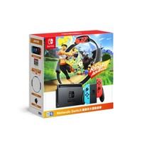 Nintendo 任天堂 Switch 国行续航增强版红蓝主机 & 健身环大冒险游戏套装