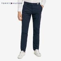 TOMMY HILFIGER男装时尚经典纯色微弹直筒休闲长裤MW0MW07752 藏青色403 32