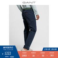 GANT/甘特 春节男士裤子净色斜纹棉布休闲裤长裤1500150 5黑色 31/32