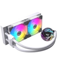 aigo 爱国者 银河 T240 240mm 一体式水冷散热器 RGB 白色