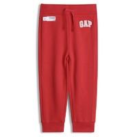 Gap 盖璞 190561 儿童抓绒运动裤 红色 110cm