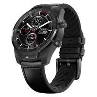 TicWatch Pro 智能手表 蓝牙版 45mm 幻影黑表盘 幻影黑皮革表带(北斗、GPS、NFC)
