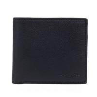 COACH 蔻驰 男士短款皮质钱包 F75084BLK 黑色