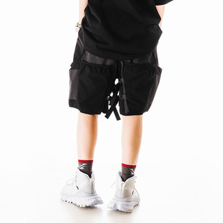 FLOAT 男士休闲短裤 F21C041PA 黑灰色 S