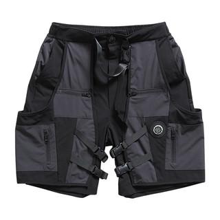 FLOAT 男士休闲短裤 F21C041PA 黑灰色 M