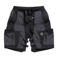 FLOAT 男士休闲短裤 F21C041PA 黑灰色 L